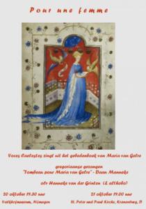 Voces Caelestes, Pour une femme, Maria van Gelre